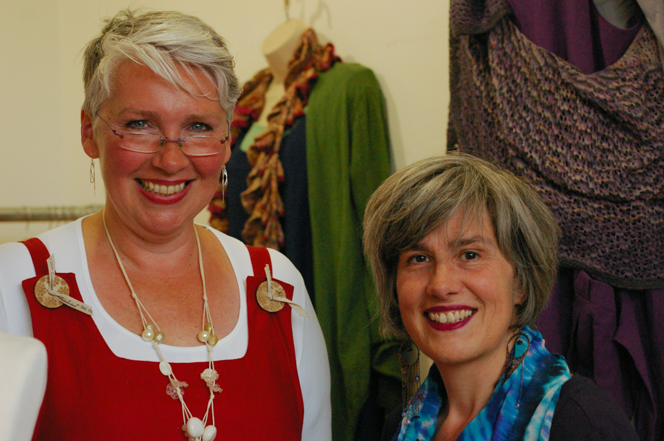 Linda (left) and Andrea (right) AKA Tall Yarns'n Tales