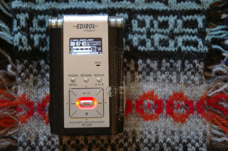EDDIE my affectionately nicknamed EDIROL R-09 digital sound recorder