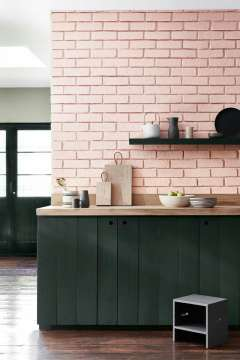 Ballet pink tiles, colour inspiration for weddings