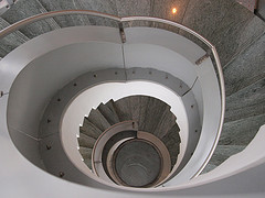 """Spiral Staircase"" by Roberto Verzo (2010), shared under a Creative Commons Attribution license"