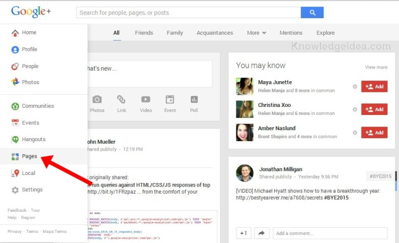 Google Plus For Business step 1