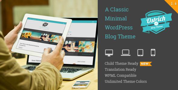 Ostrich Simple WordPress Theme