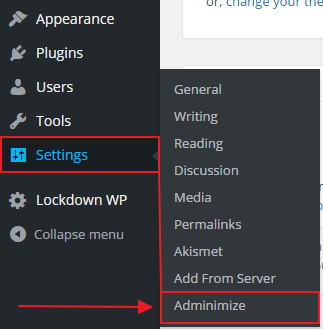 Hide Unnecessary Items From WordPress Admin Area step 1