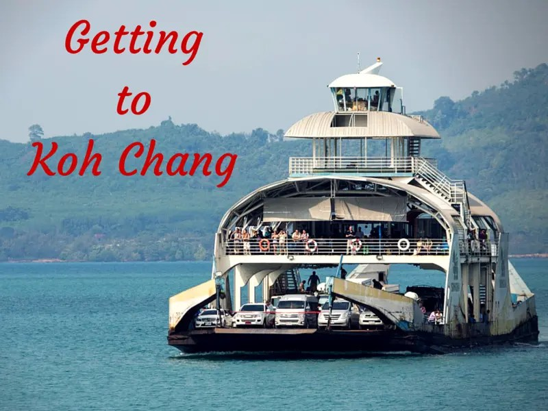 Trasnsfer to Koh Chang by car, boat, plane and bus