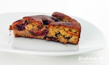 Pflaumenkuchen mit Kichererbsenmehl - metabolic balance kuchen