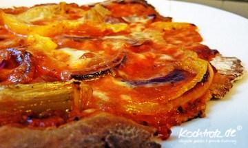 Pizza mit Roggen- oder Dinkelmehl