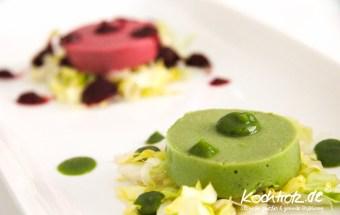 Brokkoli-Gurken-Mousse mit Wasabi und Kaffir-Limetten-Blätter