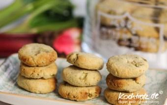 Rhabarber-Kekse, milchfrei, glutenfrei, fructosearm