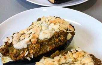 vegan-for-fit-rezept-gefuellte-aubergine-mit-quinoa-rucola-1