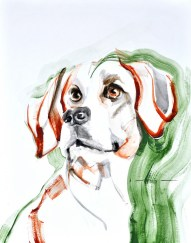 Dog A. | Acrylic on paper | 70x80 cm | 400€