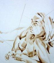 Nude Self 02| Acrylic on wooden panel | 70x50 cm | 650€