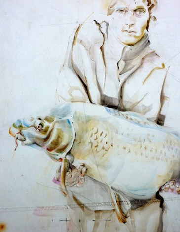 Fisherman 07 | Acrylic on sailcloth