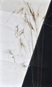 Grasses on sail | acrylic, pencil on sail | 70x100cm(?) | 1300€