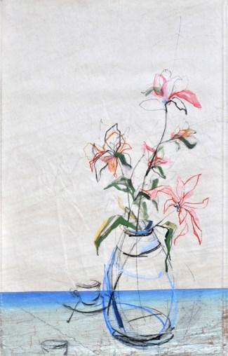 koetziervanhooff Flowers on sail cup saucer