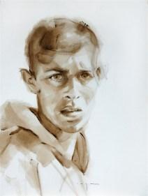 Fisherman Oualidia Marocco | Acrylic on paper | 40x60 cm | 450€