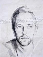 Chris Martin Acrylic on sailcloth   50x70 cm   650€