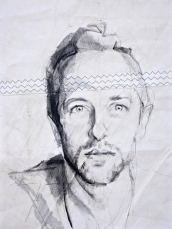 Chris Martin, portrait painting drawing