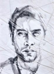 Javier Bardem|Acrylic on sailcloth | 50x70 cm | 650€