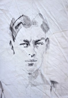 Johnny Weismuller|Acrylic on sailcloth | 50x70 cm | 650€