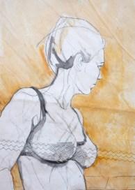 Self Model Yellow |Acrylic on sailcloth | 50x70 cm | 700€