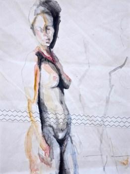 Woman Model Sail 011 |Acrylic on sailcloth | 50x70 cm | 950€