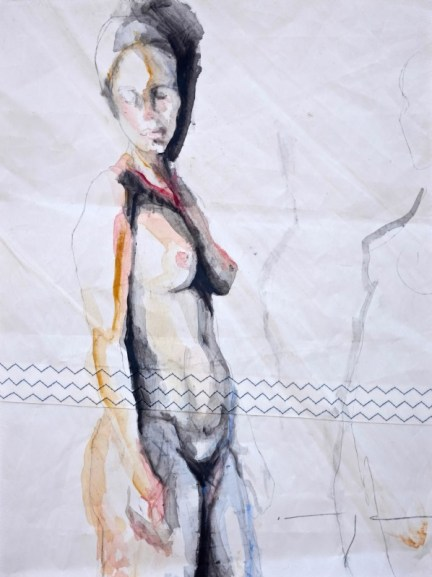 Woman Model Sail 011 |Acrylic on sailcloth | 50x70 cm | 950€