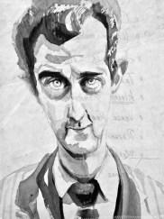 Assad ||Acrylic on sailcloth | 30 x 42 cm | 400€