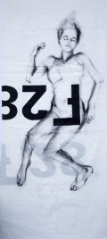 Woman Model Sail 02 | Acrylic/charcoal on sailcloth | 90x200 cm |1200€