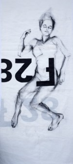 Woman Model Sail 02 | Acrylic/charcoal on sailcloth | 90x200 cm |1200€