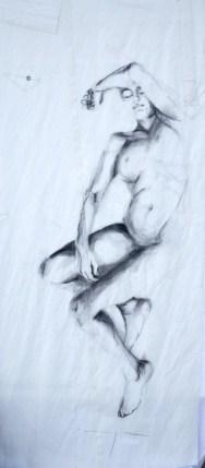 Woman Model Sail 04 | Acrylic/charcoal on sailcloth | 90x200 cm |1200€