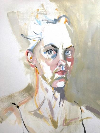 Self portrait SP 17-7 | Acrylic on paper | 50x70 cm | 1250€