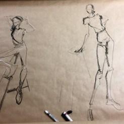 Model Louisanne van Hooff sketch