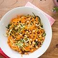 Spiraal salade met wortel en komkommer-3 copy