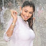 Actress Malavika Hot Navel Wet Show Stills