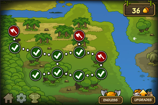 Level map - Side-scroller defense game for iPhone, game for iPad, game apps for Android
