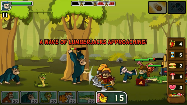 The game plays much like Plants vs Zombies