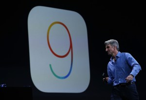 SAN FRANCISCO, CA - JUNE 08:  Craig Federighi, Apple senior vice president of Software Engineering, speaks about iOS 9 during Apple WWDC on June 8, 2015 in San Francisco, California. Apple annouced a new OS X, El Capitan, and  iOS 9 during the keynote at the annual developers conference that runs through June 12.  (Photo by Justin Sullivan/Getty Images)