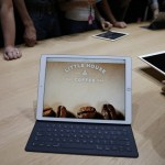 SAN FRANCISCO, CA - SEPTEMBER 9: An Apple iPad Pro with a Smart Keyboard attached is seen in the demo area after a special event at Bill Graham Civic Auditorium on September 9, 2015 in San Francisco, California. Apple Inc. unveiled the latest iterations of its smart phone, the 6S and 6S Plus, an update to its Apple TV set-top box as well as announcing the new iPad Pro. (Photo by Stephen Lam/ Getty Images)