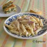 Four cheese, Carbonara with Bacon and Greek Yoghurt