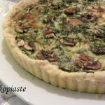 Spinach and Mushroom Tart with Buffalo Butter and Cheese