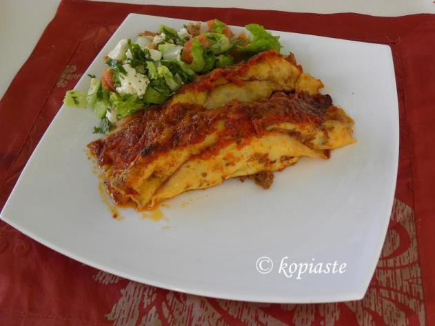 Savory Crepes Canelloni