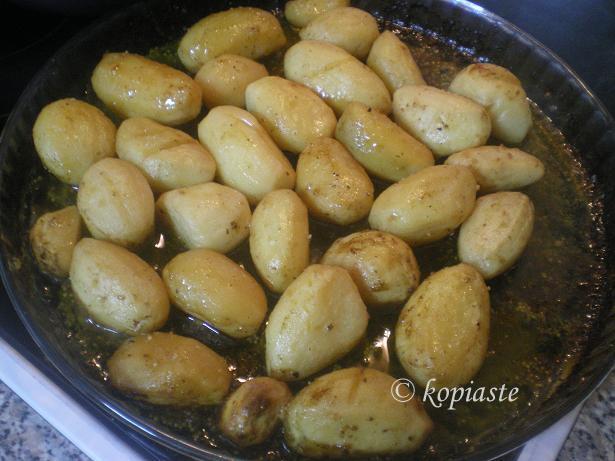 lemony potatoes