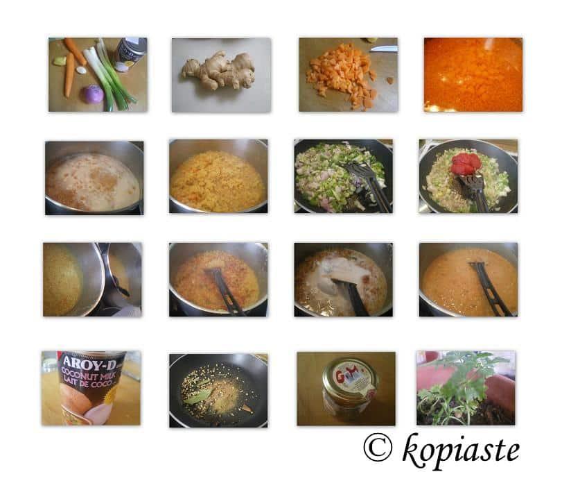 Collage Red lentil Soup