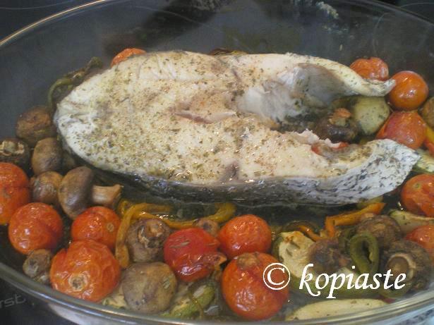 Milokopi with vegetables