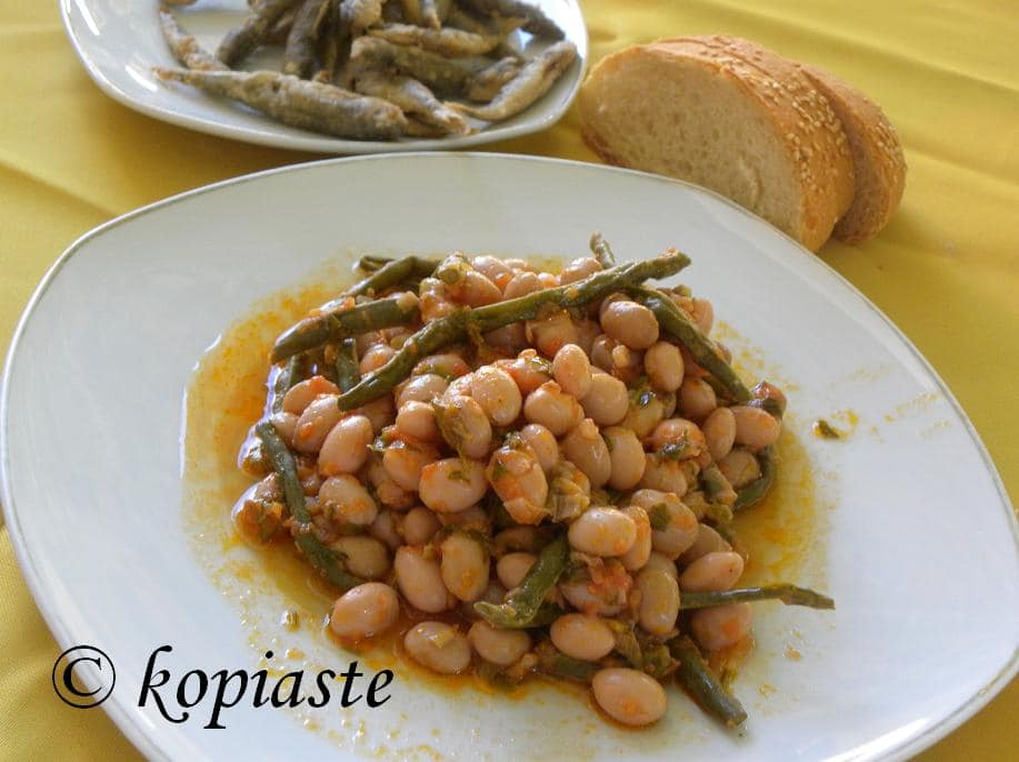 Stewed Cranberry beans
