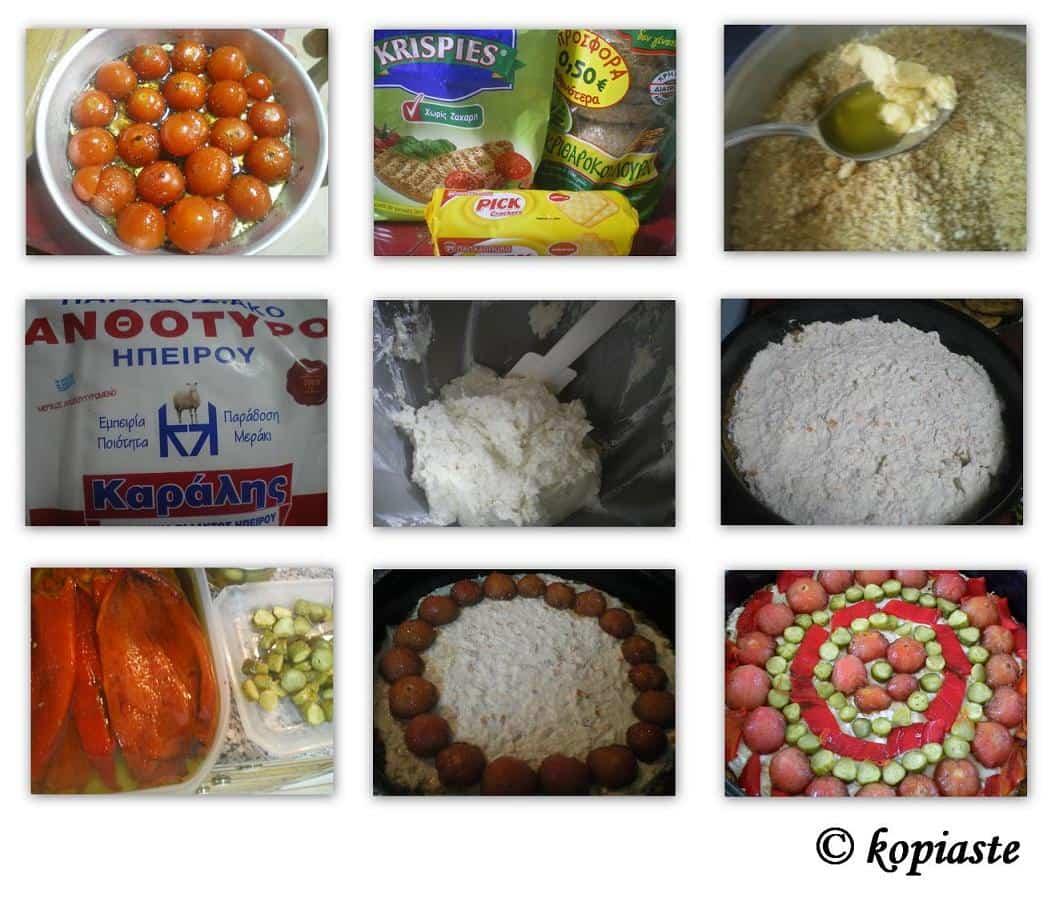 Collage Tomato Tart Savoury Cheesecake
