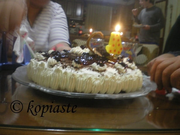 Black Forest with candles