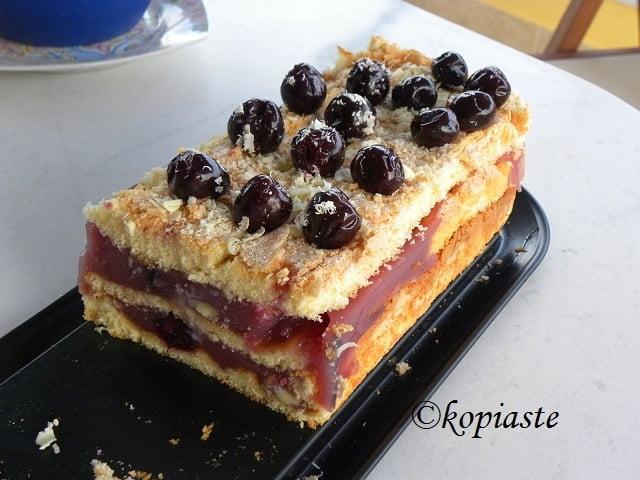 cherry cake with sponge