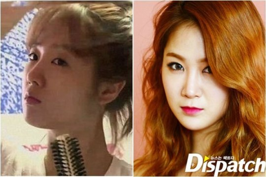 SISTAR's Soyou: before and after make-up comparison.