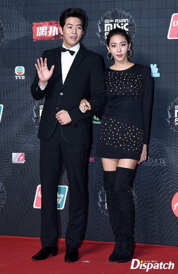 Image: Lee Sang Yoon and Uee at MAMA 2015 / Dispatch